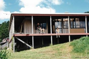 Dad & Jamie on the veranda